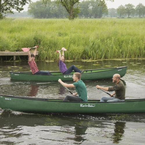 Kanoen tijdens de verzameljacht